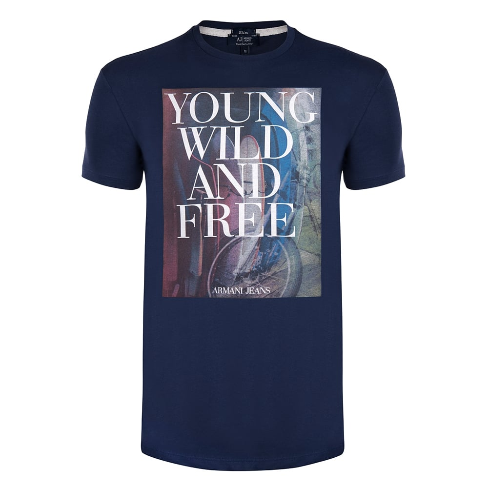 Navy YWF Graphic Mens T-Shirt 4f66edb88