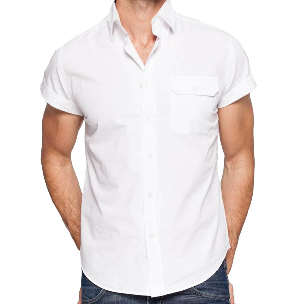 Armani jeans shirts armani short sleeved shirts the for Mens formal white shirts