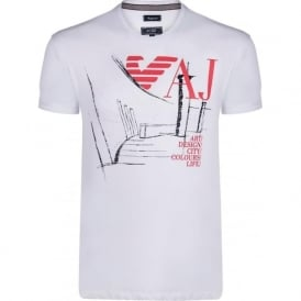 White Graphic Mens T-Shirt