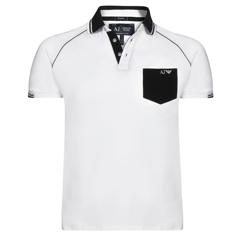 White Mens Polo T-Shirt ee93c12e1