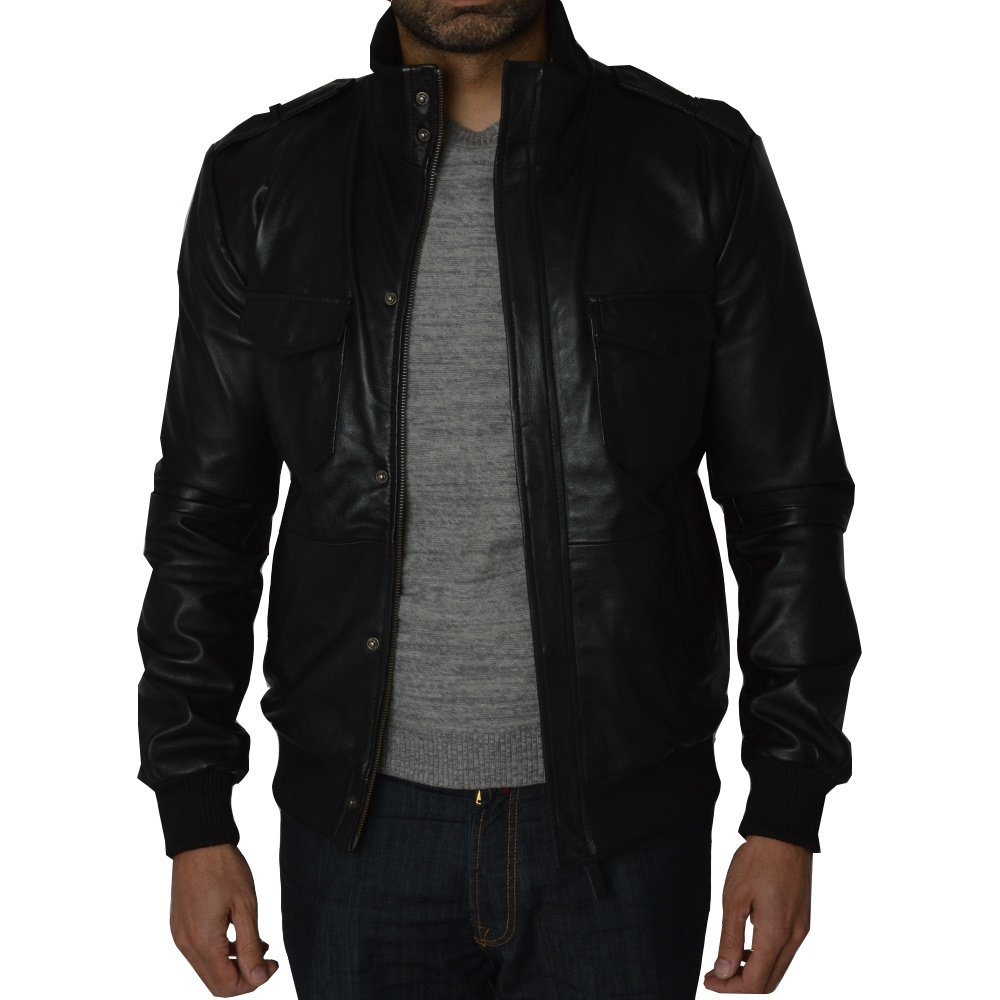 Mens leather bomber jacket by Ashwood Leather | The Shirt Store