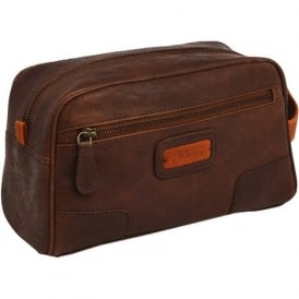 Brompton-Duff Leather Washbag