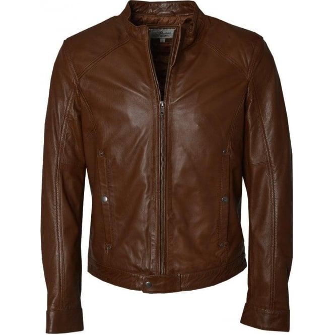 mens brown leather diesel jacket by ashwood the shirt store. Black Bedroom Furniture Sets. Home Design Ideas