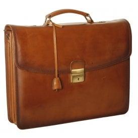 10d80786228 Dorchester Orlando Leather Single Lock Briefcase