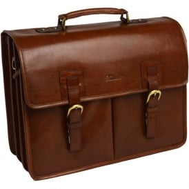 Gareth Heavy Duty Leather Briefcase