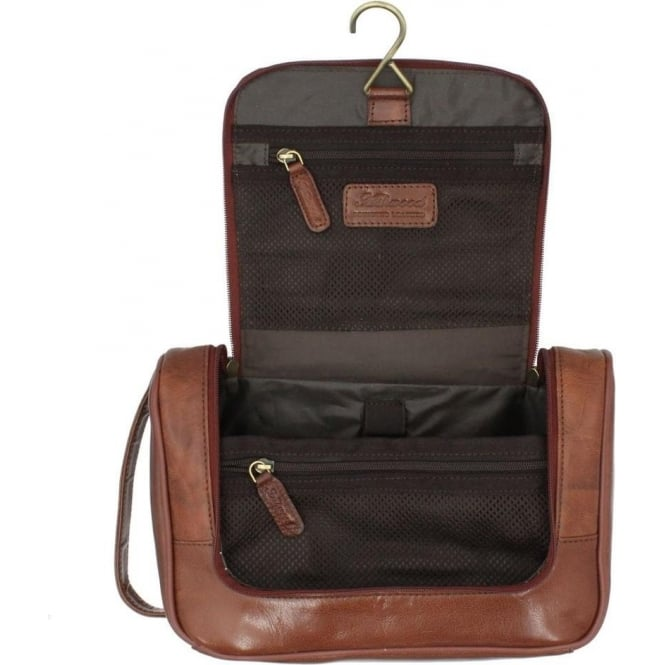 Ashwood Hanging Leather Washbag