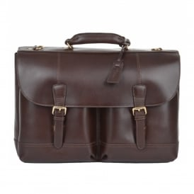 Ashwood Henry Leather Laptop Briefcase
