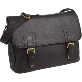 Jasper Leather Laptop Satchel