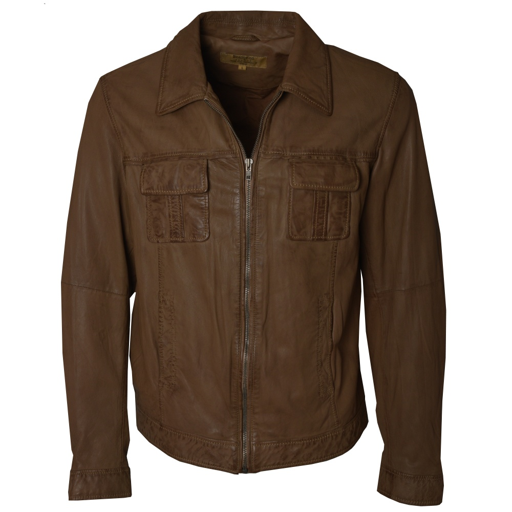 mens brown leather jacket by ashwood leather the shirt store. Black Bedroom Furniture Sets. Home Design Ideas