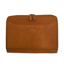 Mayfair A4 Double Zip Tablet Case in Colombian Leather