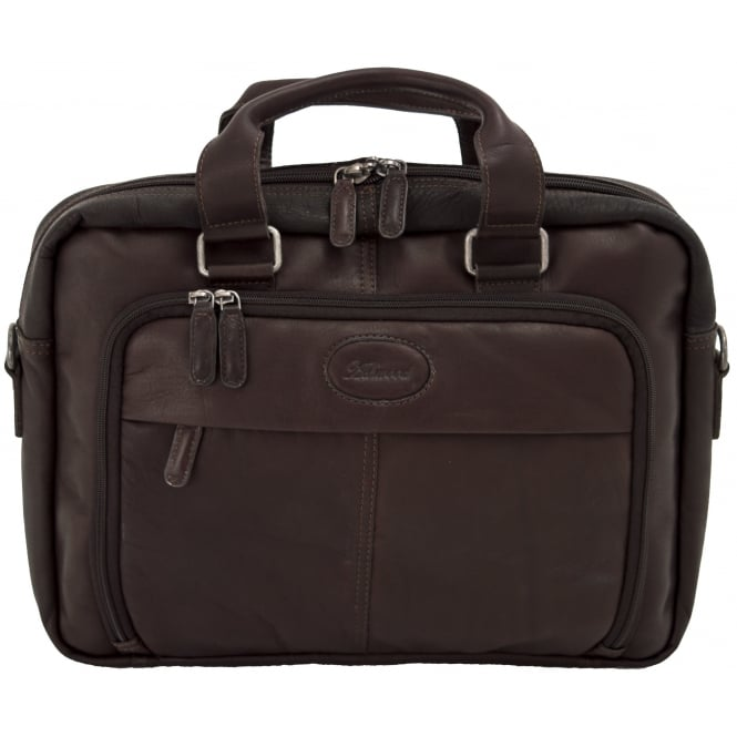 Ashwood Mayfair Double Handle Laptop Bag in Colombian Leather