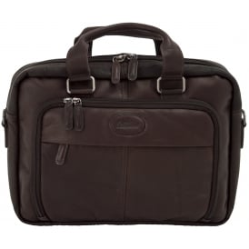 Mayfair Double Handle Laptop Bag in Colombian Leather