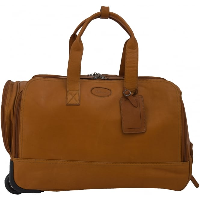 Ashwood Mayfair Large Wheeled Weekend Holdall in Colombian Leather