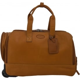 Mayfair Large Wheeled Weekend Holdall in Colombian Leather