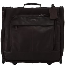 Mayfair Wheeled Suit Carrier in Colombian Leather