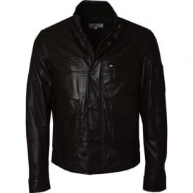 Oris Mens Brown Leather Jacket