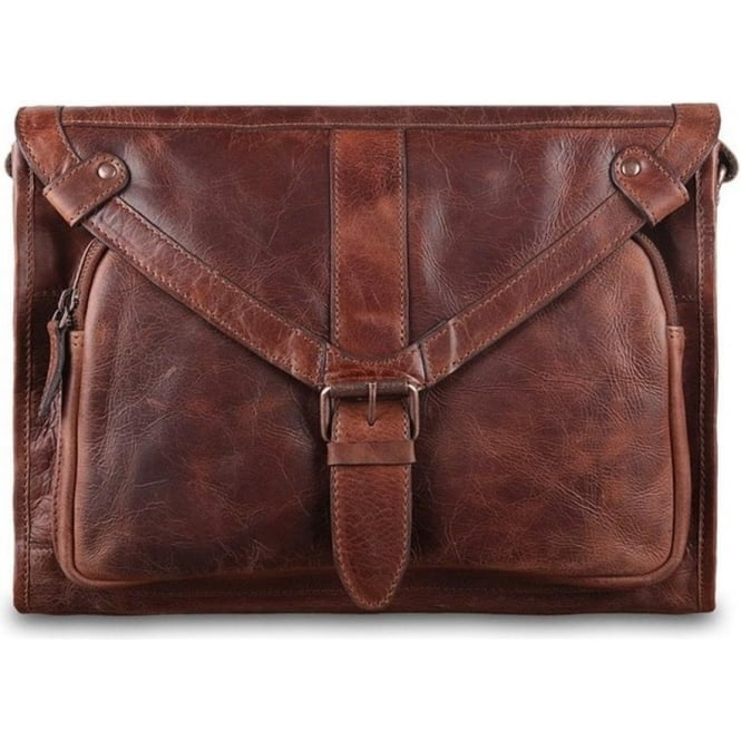 Ashwood Paddington-Rhode Leather Mens Messenger Bag