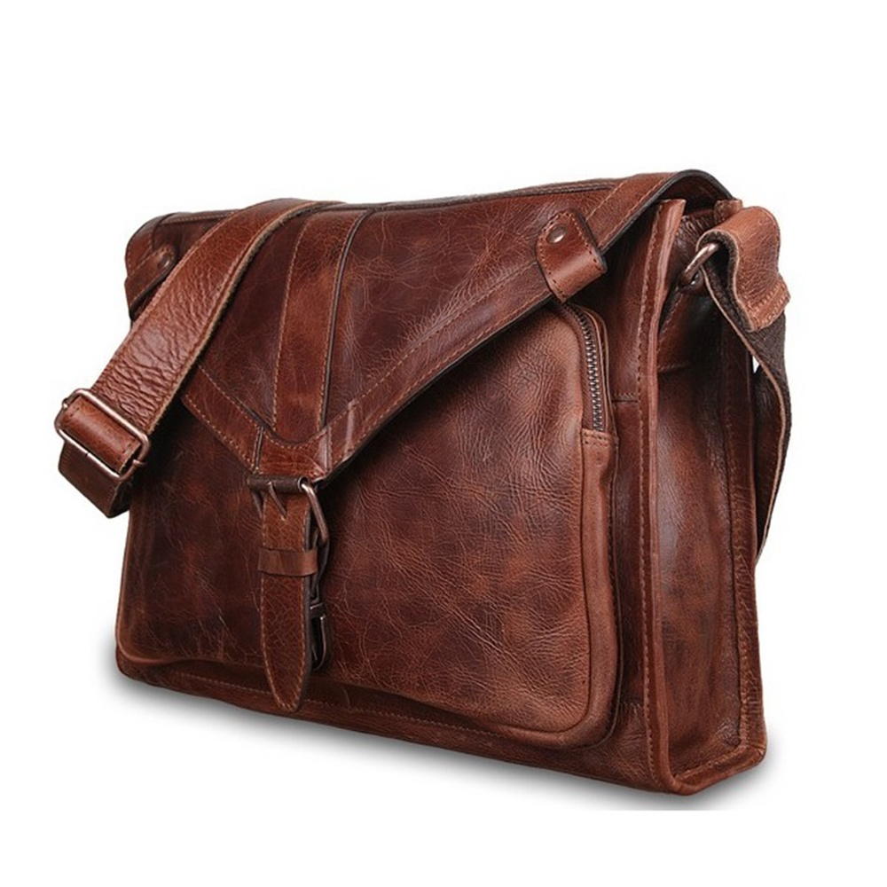 Ashwood Rhode Mens Leather Messenger Bag | The Shirt Store