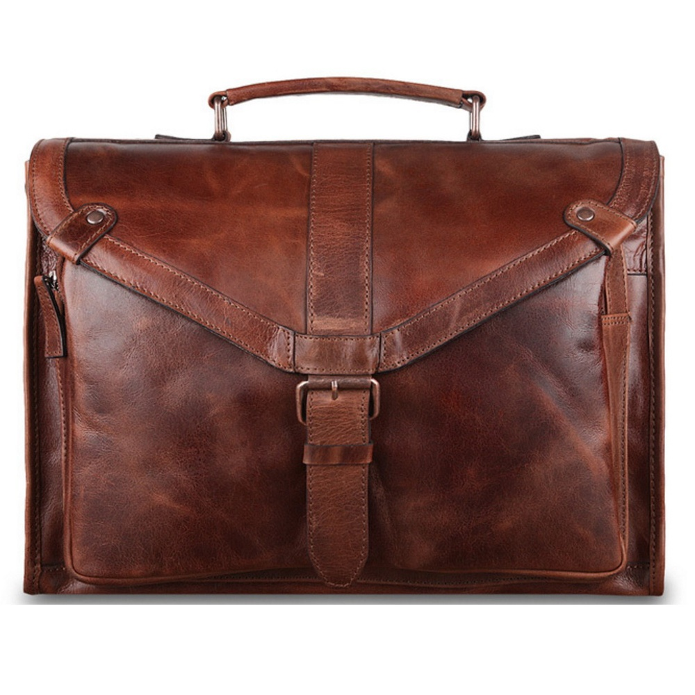 Ashwood Tycho Mens Leather Briefcase The Shirt Store