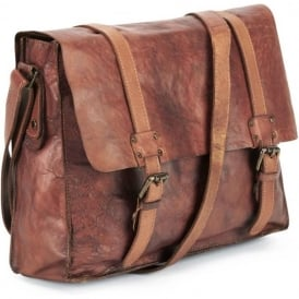 Shoreditch Leather Mens Messenger Bag