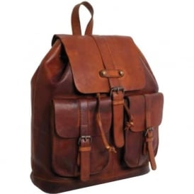 Shoreditch Mens Leather Rucksack