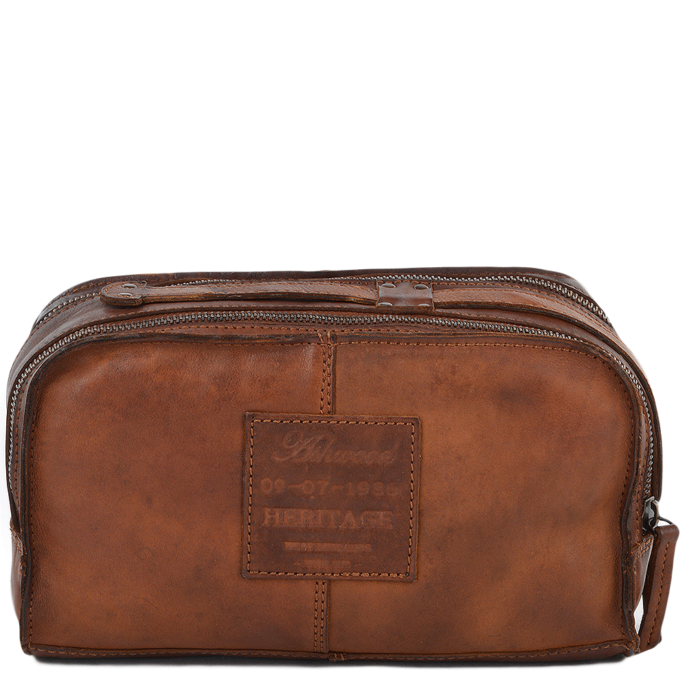 d6d66f1565 Shoreditch Rust Mens Leather Wash Bag