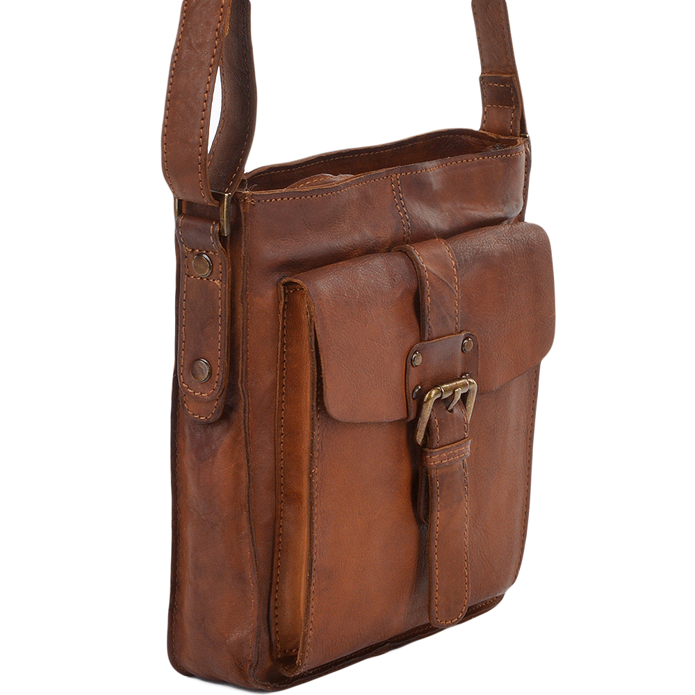 Shoreditch Small Leather Travel Bag|Man bag|The Shirt Store