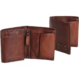 Shoreditch Tri-Fold Mens Leather Wallet