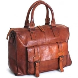Shoreditch Vintage Leather Weekend Bag