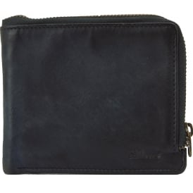 Spitalfields Vintage Zip Round Mens Leather Wallet