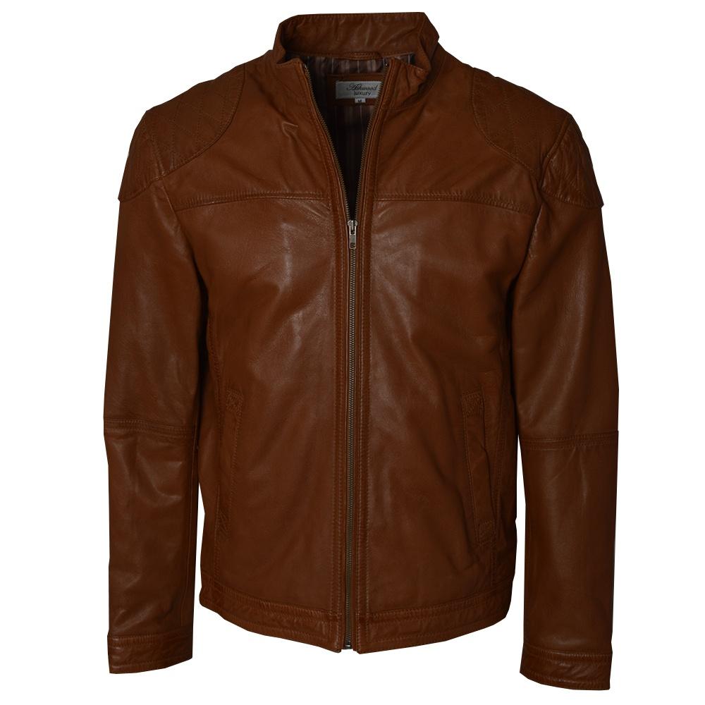 mens brown leather biker jacket by ashwood the shirt store. Black Bedroom Furniture Sets. Home Design Ideas