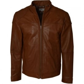 William Mens Brown Leather Jacket