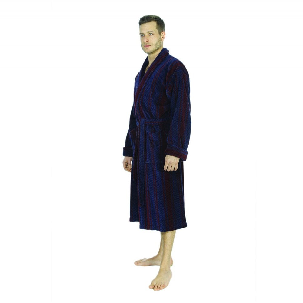 Bown of London Arbroath Mens Velour Dressing Gown | The Shirt Store