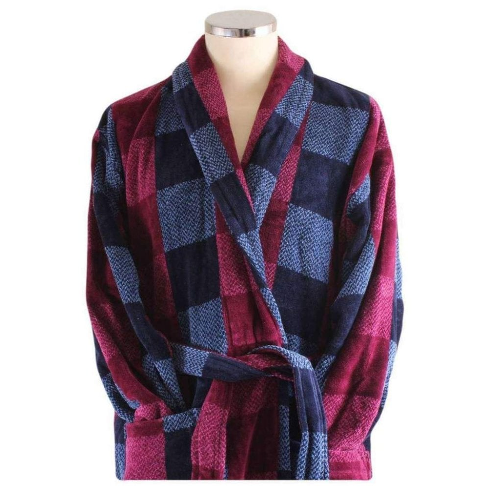 Bown Of London Chester Mens Velour Dressing Gown The Shirt Store