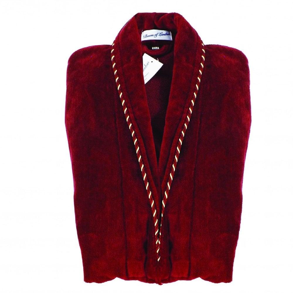 Earl Mens Luxury Egyptian Cotton Velour Dressing Gown c1da718aa
