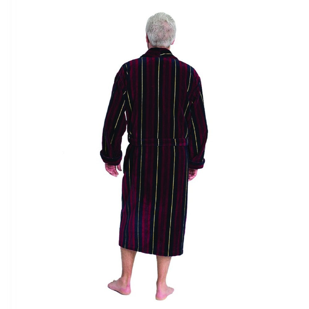 Bown of London Marchand Mens Velour Dressing Gown | The Shirt Store