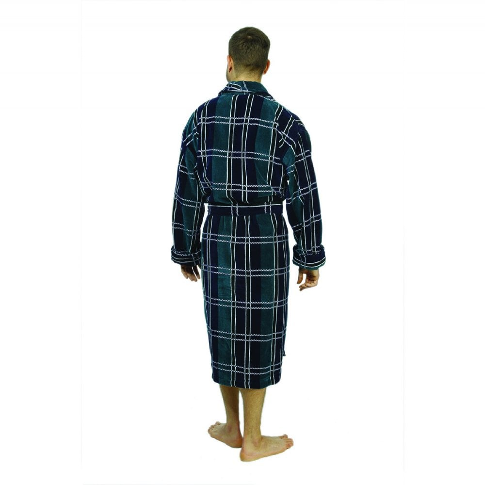Perth Mens Luxury Egyptian Cotton Velour Dressing Gown 5a791193a