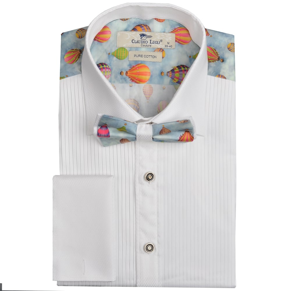 Evening Dress Shirts For Men Claudio Lugli Bow Tie Shirt