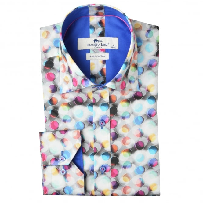 Claudio Lugli Bubble Print Mens Shirt