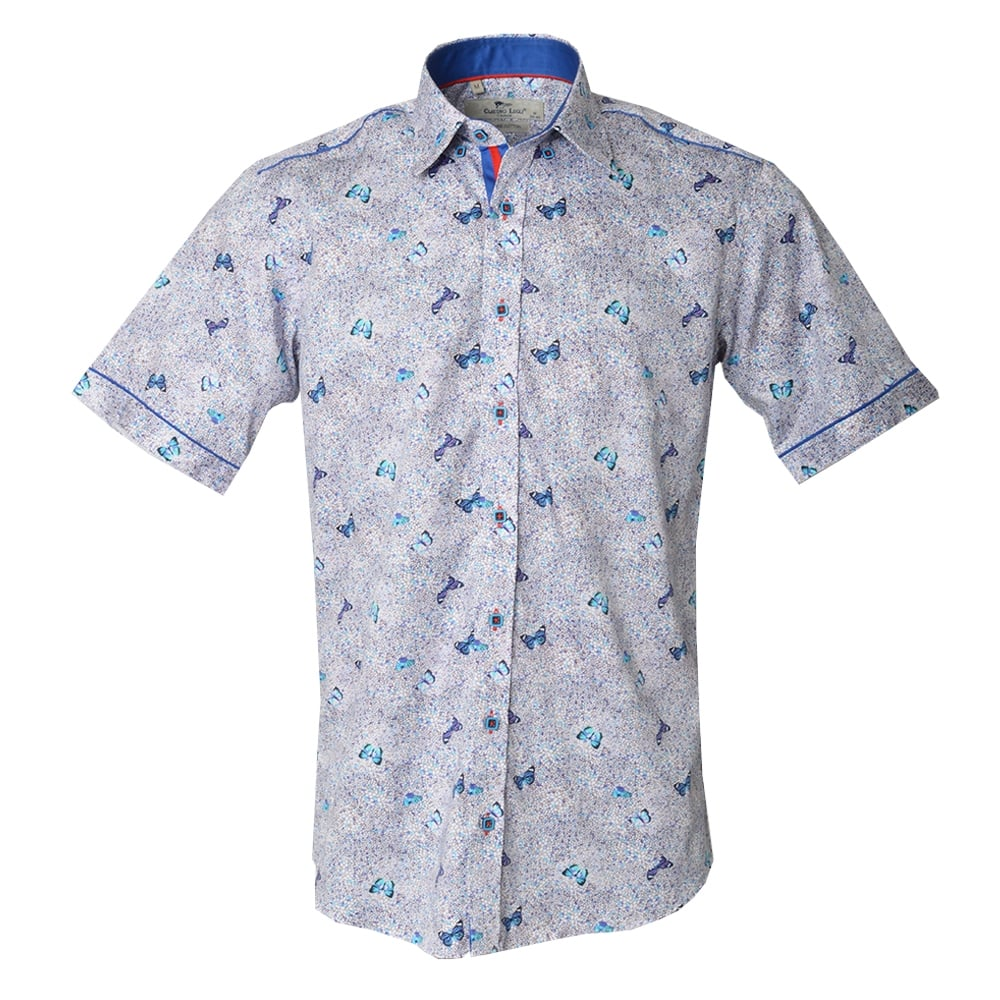 claudio lugli shirts butterfly short sleeve shirt the