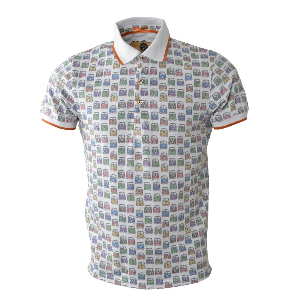 94e5f29fa7 Camper Van Print Pique Polo Mens T-Shirt