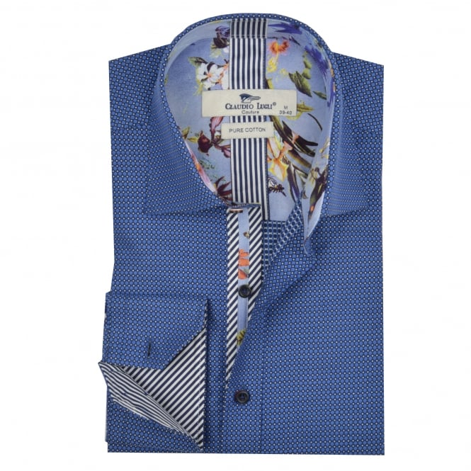 Claudio Lugli Classic Polka Dot Design Mens Shirt