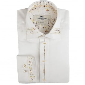 Confetti Trim Collar Mens Shirt