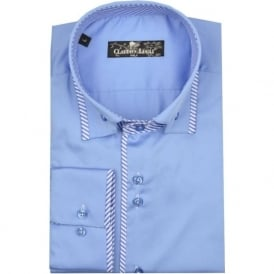 CP5801 Blue Striped Trim Shirt