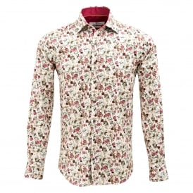 English Rose Print Mens Shirt