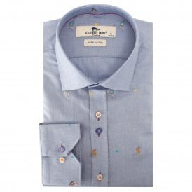 Flamingo Jacquard Men's Shirt