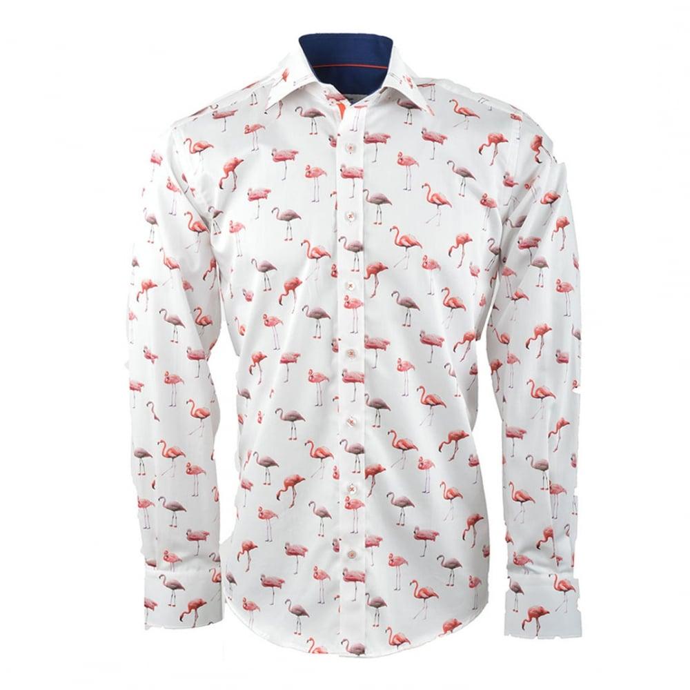 Claudio Lugli Cp6178 Flamingo Print Mens Shirt The Shirt