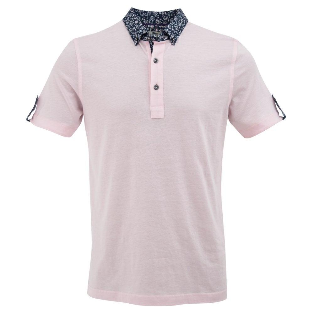 945c8a242d Floral Print Collar Regular Fit Pique Polo Men's T-Shirt