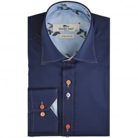 Flying Bird Trim Mens Shirt