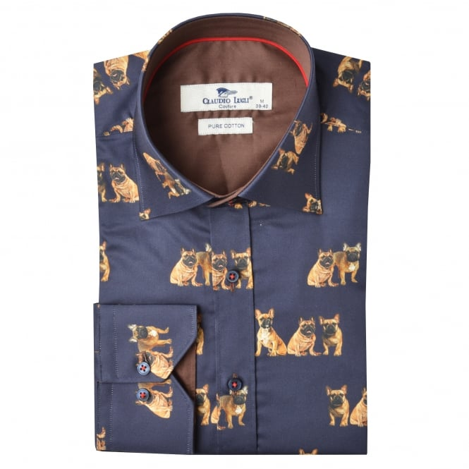 Claudio Lugli French Bulldog Print Shirt